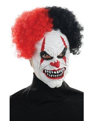 Midnight Creatures Crazy Clown Red and Black Mens Mask