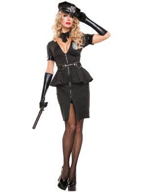 Sexy Women's Police Officer Fancy Dress Costume Main Image