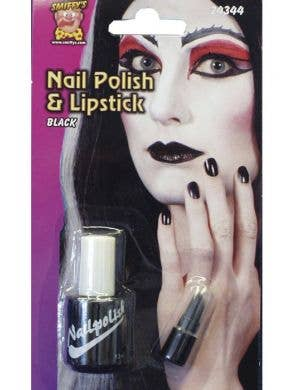 Halloween Black Nail Polish and Lip Stick