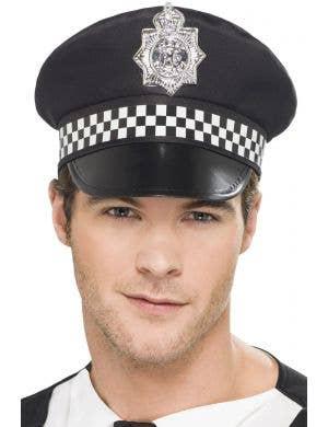Men's Basic English Police Officer Costume Hat