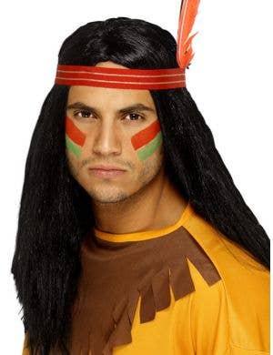 Indian Brave Men's Costume Wig