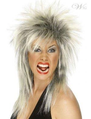 80's Rock Diva Long Mullet Wig