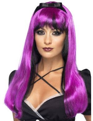 Bewitching Purple and Black Halloween Wig