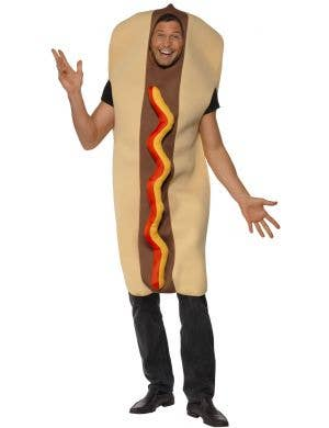 Giant Human Hot Dog Adult's Funny Costume Front View