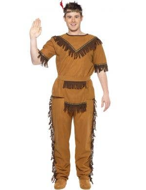 American Indian Brave Men's Fancy Dress Costume