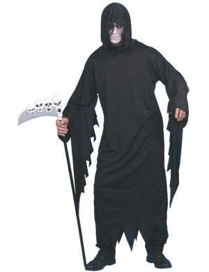 Screamer Men's Black Halloween Costume Robe