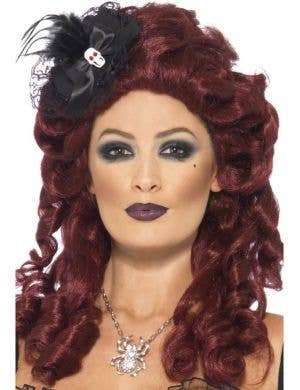 Grotesque Burlesque Black Mini Fascinator Hat