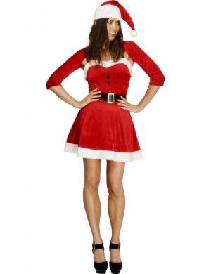 Sexy Women's Santa Christmas Costume Front View
