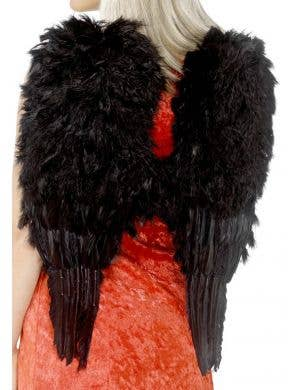 Black Feather Angel Wings Costume Accessory