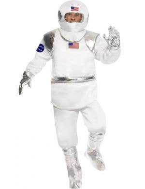 Men's Space Astronaut Fancy Dress Costume Front