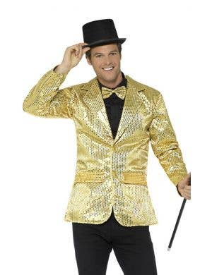 Sequin Gold Men's Cabaret Costume Jacket