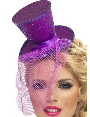 Fever Glitter Mini Top Hat - Purple