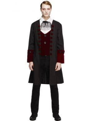 Men's Gothic Vampire Halloween Costume Main Image