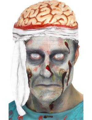 Bloody Brains Zombie Bandage Brain Hat