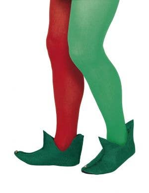 Festive Christmas Elf Adult's Costume Shoe Covers