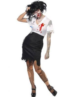 Worked To Death Women's Halloween Zombie Costume