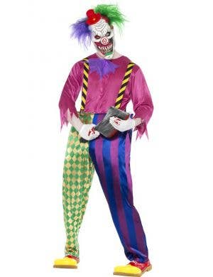 Kolourful Killer Klown Men's Halloween Costume