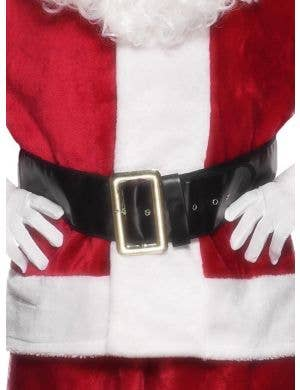 Santa Claus Black Leather Look Costume Belt