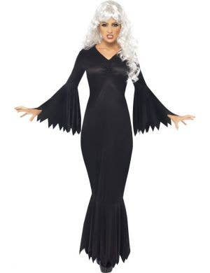 Midnight Vamp Women's Long Black Halloween Costume