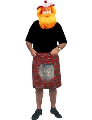 Tartan Red Scotsman Kilt with Sporran