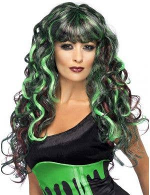 Blood Drip Black and Green Monster Wig