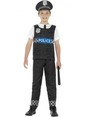Cop Boys Police Officer Fancy Dress Costume