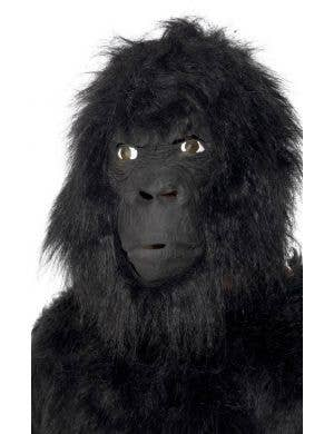 Gorilla Adult's Black Fur Latex Mask