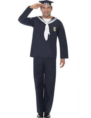 Men's 1940's WW2 Navy Sailor Fancy Dress Costume Main