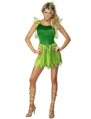 Woodland Fairy Women's Sexy Green Tinkerbell Costume Main Image