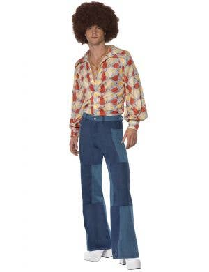 Men's Retro Days 1970's Fancy Dress Costume Main Image