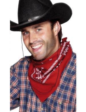 Wild West Red Bandanna Cowboy Costume Accessory