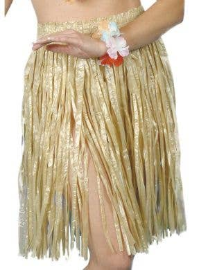 Natural Straw Adult's Short Grass Skirt Costume Accessory