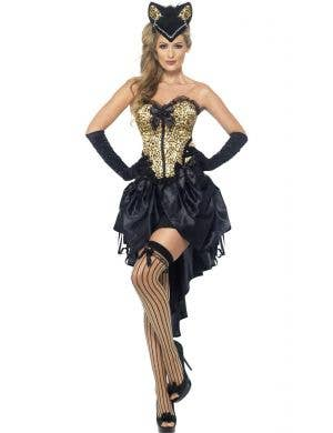 Burlesque Kitten Women's Sexy Costume Front View