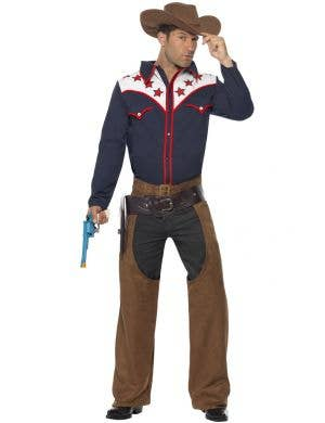 Men's Western Rodeo Cowboy Costume Image 1