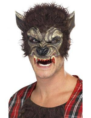 Werewolf Bite Half Face Mask with Fur