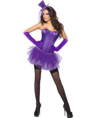 Women's Purple Burlesque Costume Front View