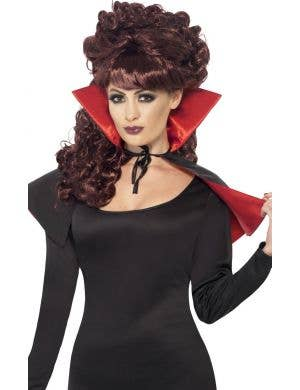 Mini Black and Red Vampire Costume Cape
