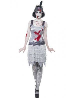 1920's Women's Great Gatsby Zombie Flapper Costume Front