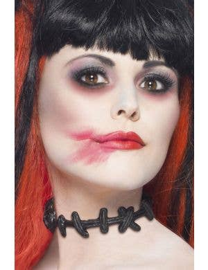 Stitched Up Choker Halloween Accessory