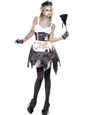 Fatal French Maid Women's Halloween Zombie Costume