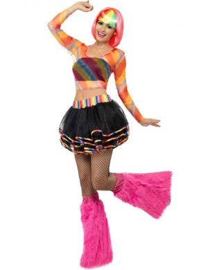 Rainbow Raver Costume Tutu and Top Set