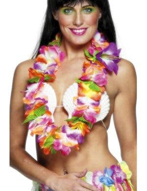 Bright Novelty Hawaiian Flower Lei
