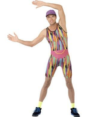 80's Aerobics Instructor Novelty Men's Costume Front