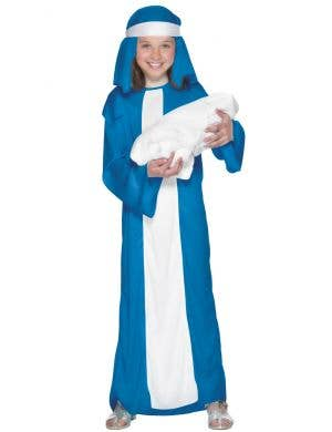 Girl's Bible Mary Nativity Costume Front View