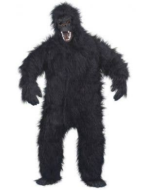 Scary Hairy Black Gorilla Men's Halloween Costume