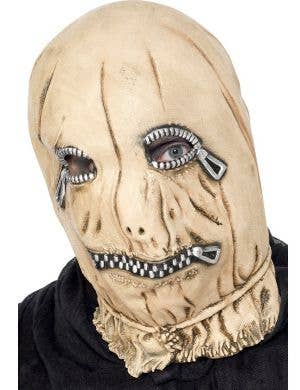 Latex Zip Face Halloween Mask