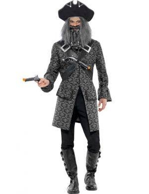 Men's Terror Of The Seas Grey Pirate Costume Front