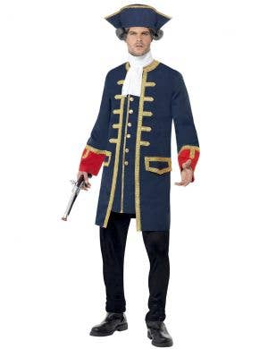 Colonial Navy Commander Men's Fancy Dress Costume