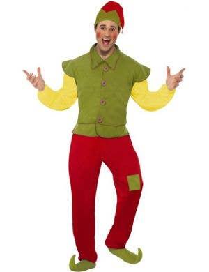 Yule Time Happy Elf Men's Christmas Costume