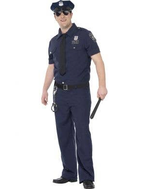 NYC Police Plus Size Men's Costume Main Image